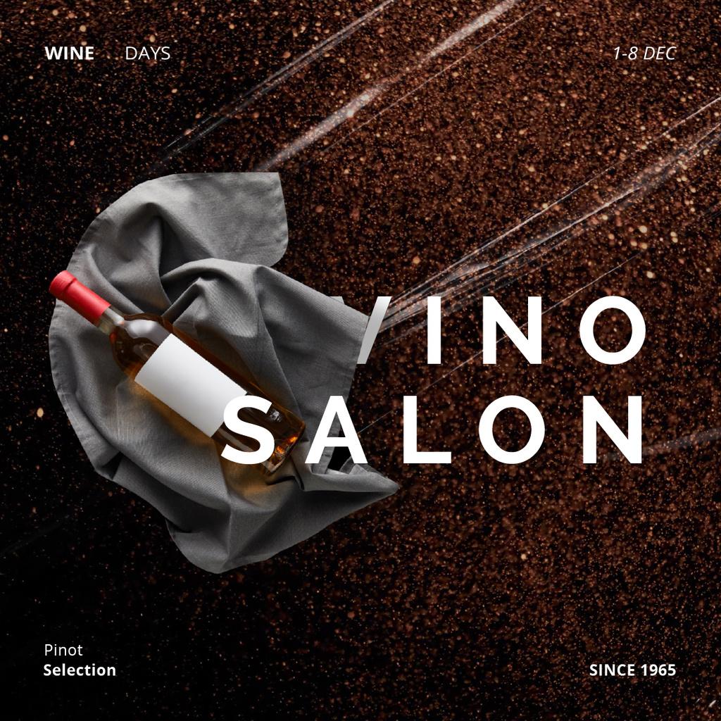 Bottle of Wine on Ribbon — Создать дизайн