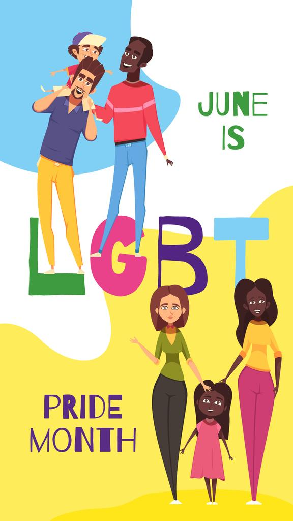 LGBT parents with children — Créer un visuel