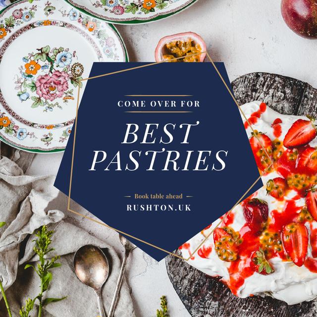 Designvorlage Ethnic plates with Fruits für Instagram