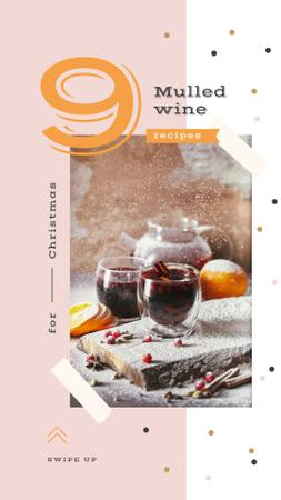Template di design Red mulled wine with fruits Instagram Story