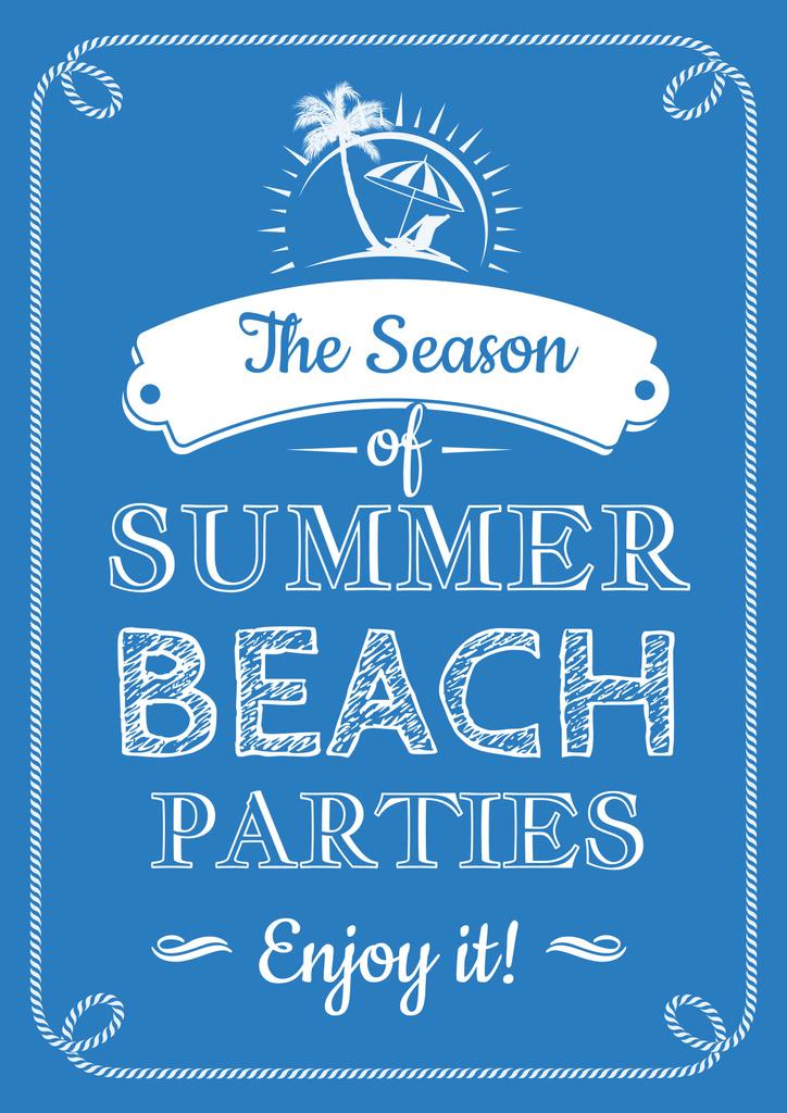 Summer beach parties quote — Modelo de projeto