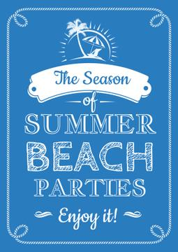 Summer beach parties quote