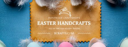 Plantilla de diseño de Easter Eggs Decor Offer Facebook Video cover