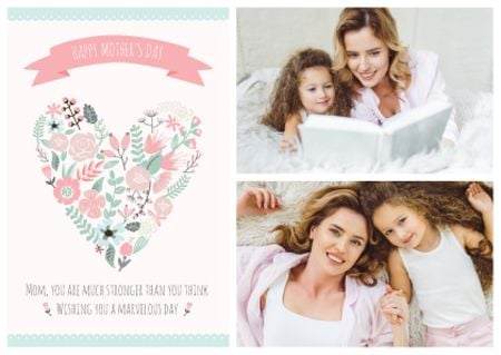 Template di design Happy Mother's Day postcard Postcard