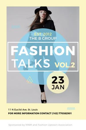 Modèle de visuel Fashion talks Announcement - Pinterest