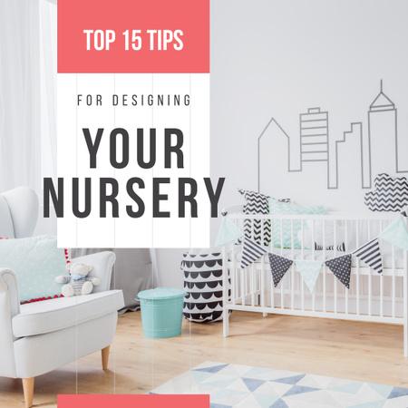 Cozy nursery interior Instagram – шаблон для дизайну