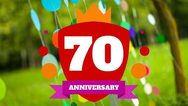 Plantilla de diseño de Anniversary celebration template Full HD video