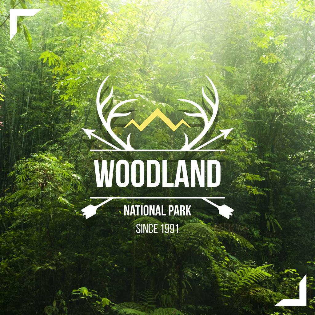National Park Scenic Green Nature View — Modelo de projeto