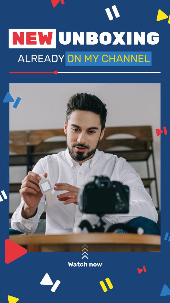 Blogger filming content — Maak een ontwerp