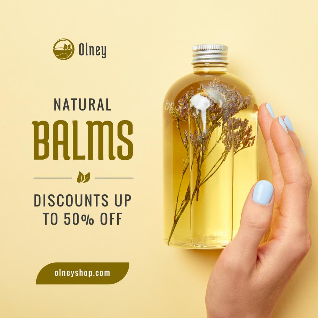 Beauty Products Sale Natural Oil in Bottle — Create a Design