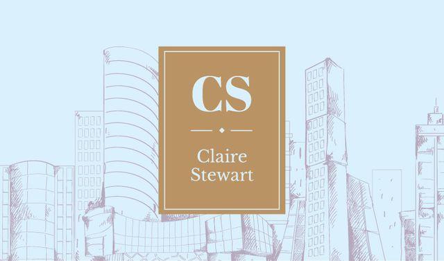 Ontwerpsjabloon van Business card van Modern city buildings