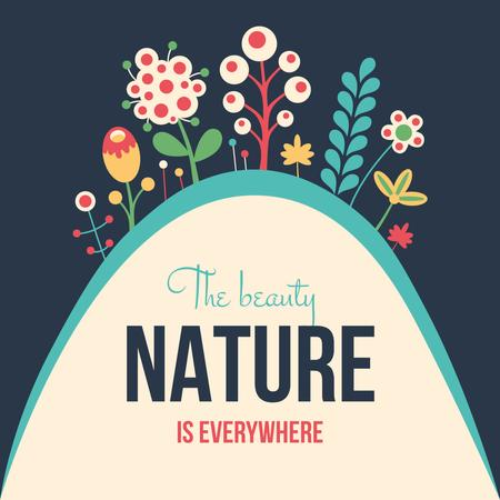 Beauty of Nature illustration Instagram – шаблон для дизайну