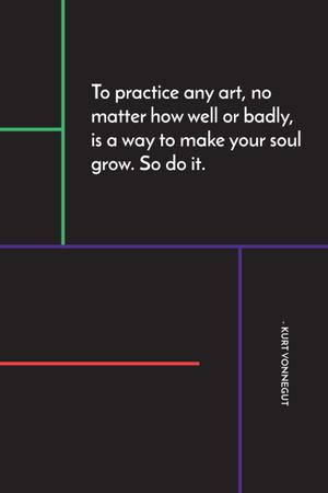 Citation about practice to any art Pinterest – шаблон для дизайну