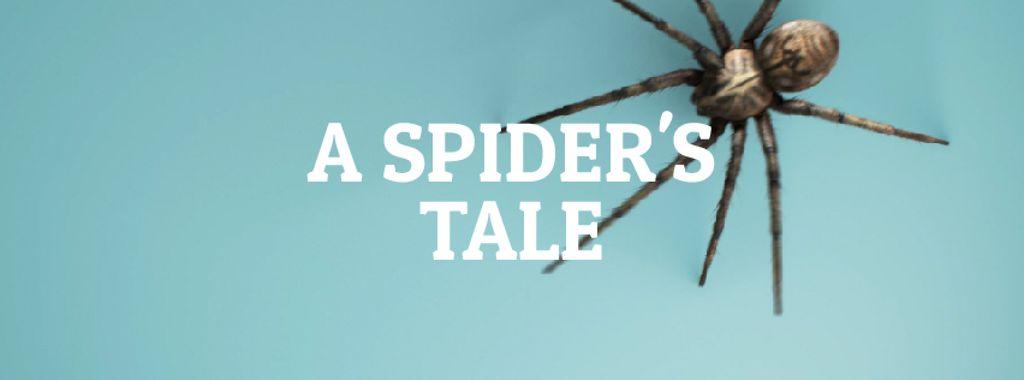 Spider creeping on blue background – Stwórz projekt