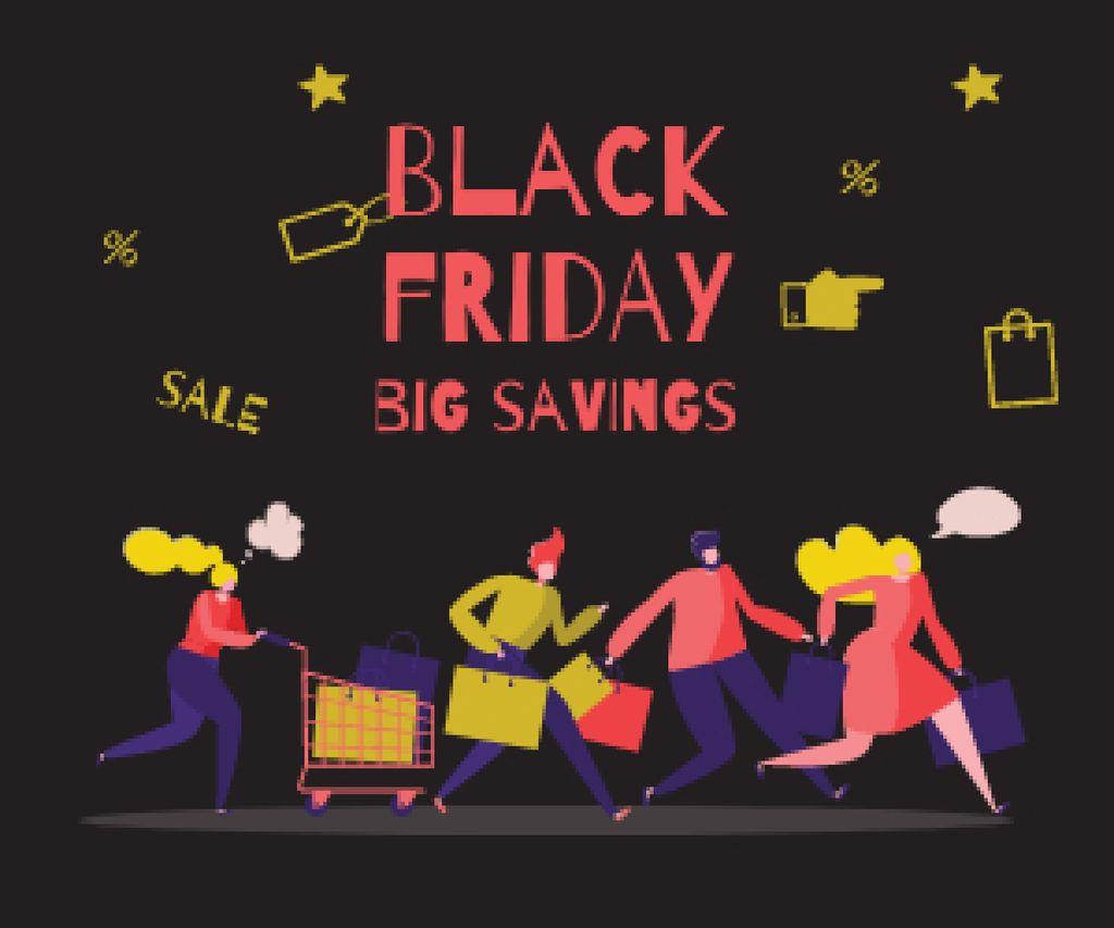 People shopping on sale — Modelo de projeto