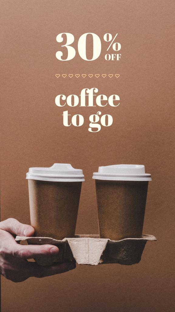 Coffee to go Special Discount Offer — Создать дизайн