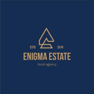 Real Estate Agency Ad with Building Icon in Blue