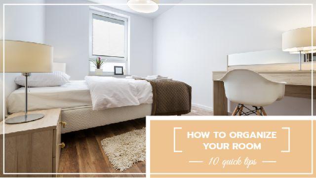 Plantilla de diseño de Cozy Bedroom interior Title