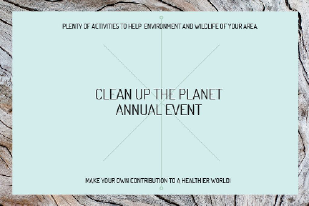 Clean up the Planet Annual event — ein Design erstellen