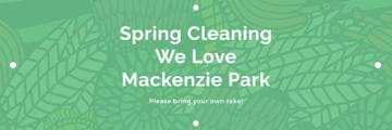 Spring Cleaning Event Invitation Green Floral Texture | Twitter Header Template