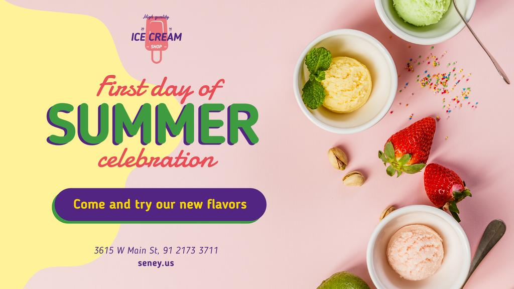 First Day of Summer Sale Colorful Ice Cream — Maak een ontwerp