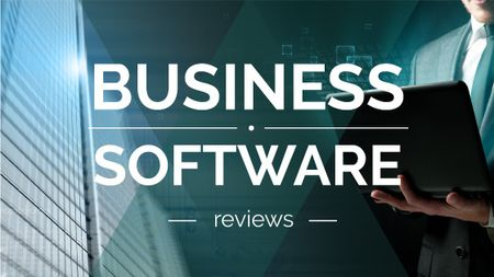 Business Software reviews guide Title – шаблон для дизайна