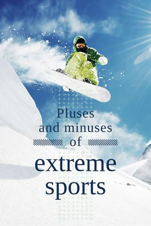 Extreme sports Ad Pinterest Design Template