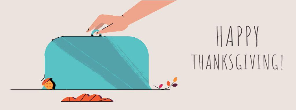 Thanksgiving turkey on plate — Створити дизайн