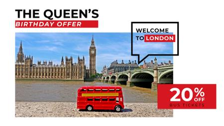 Szablon projektu Queen's Birthday London Tour Offer Full HD video