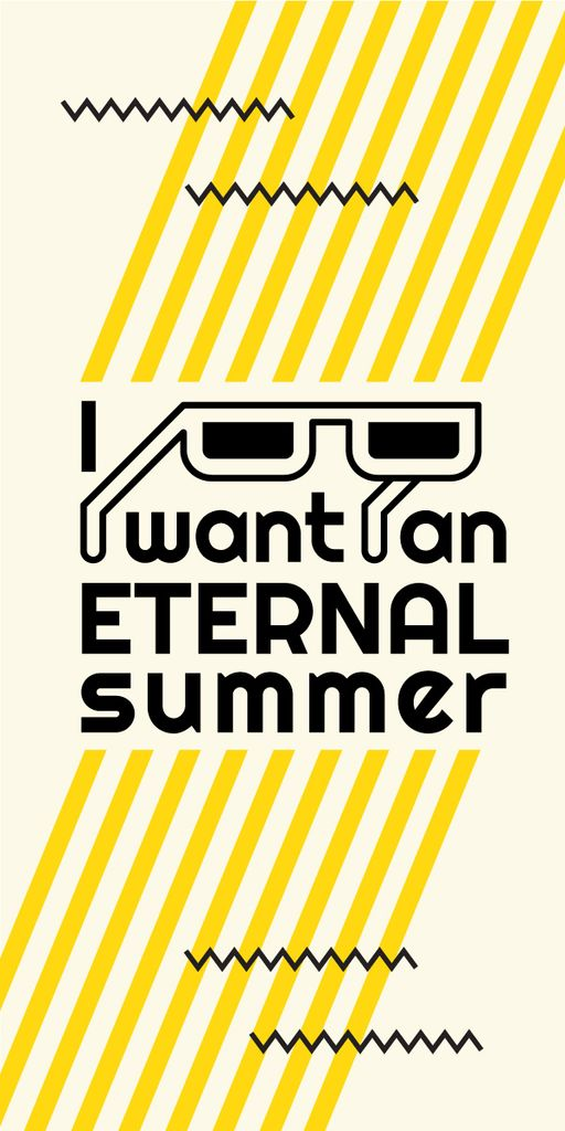 Eternal summer graphic poster — Modelo de projeto