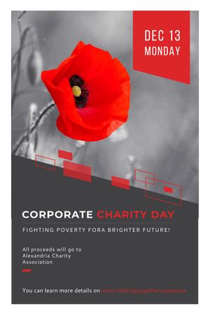 Szablon projektu Corporate Charity Day Pinterest