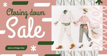 Clothes Sale Offer Flat Lay Matching Couple Outfit | Facebook Ad Template