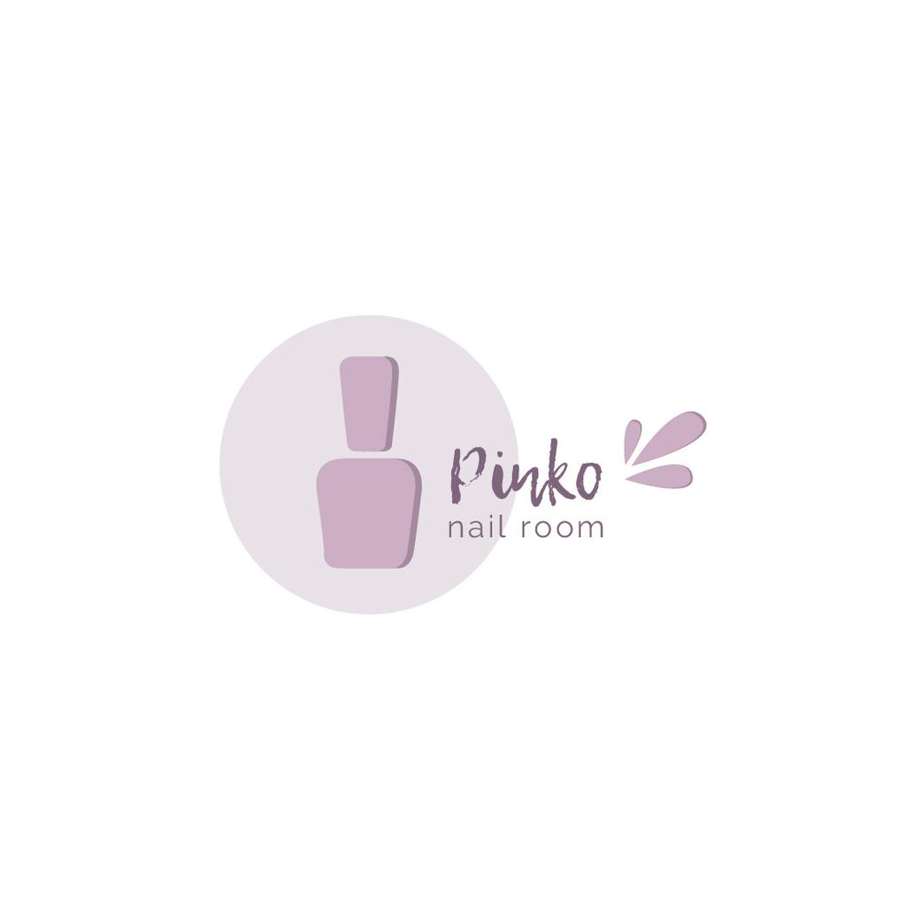 Nail Room Ad with Polish in Pink — Crea un design