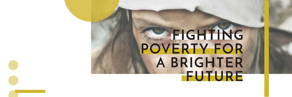 Citation about Fighting poverty for a brighter future Twitter – шаблон для дизайна