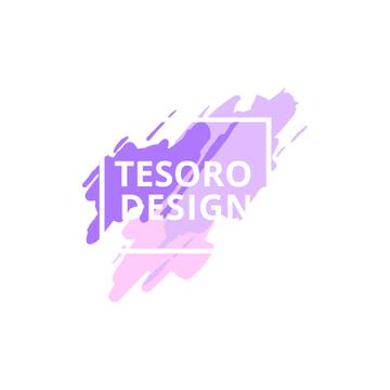 Design Studio Ad with Paint Smudges in Purple