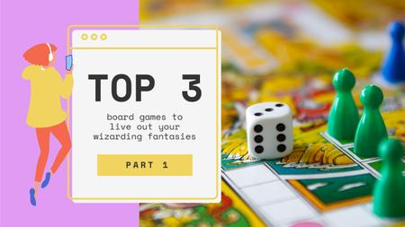 Plantilla de diseño de Board Games Ad Youtube Thumbnail