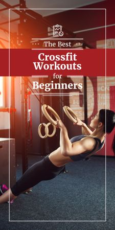 Template di design best fitness workouts for beginners poster Graphic