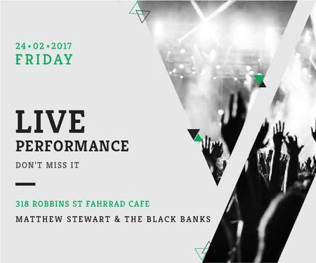 Matthew Stewart & The Black Banks live performance Large Rectangle Design Template