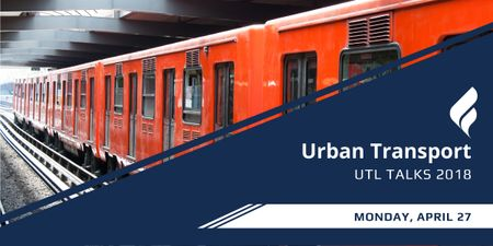 Urban transport talks announcement Image Modelo de Design