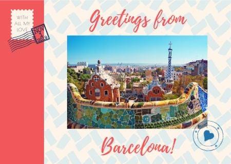 Template di design Barcelona tour advertisement Card