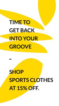 Sports Clothes Sale with Quote