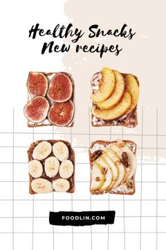 Healthy Toasts with Fruits