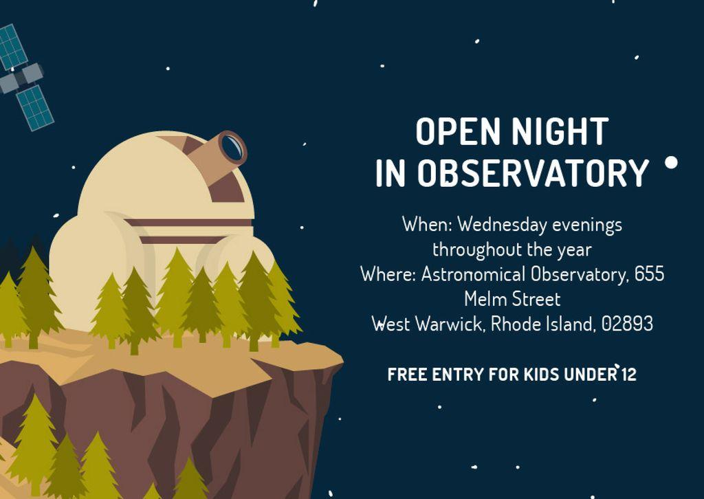 Open night in Observatory — Maak een ontwerp