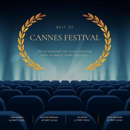 Plantilla de diseño de Cannes Film Festival poster Animated Post