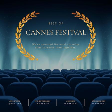 Cannes Film Festival poster Animated Postデザインテンプレート