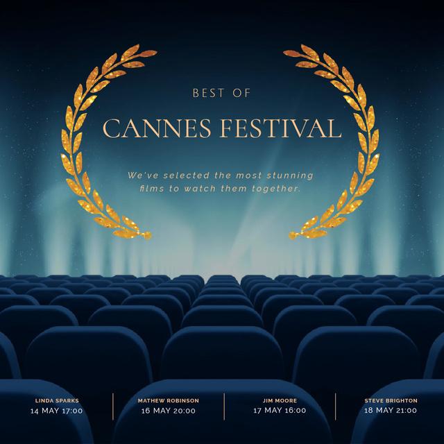 Template di design Cannes Film Festival poster Animated Post