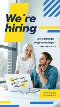 We're Hiring Offer Successful Business Team in Office | Stories Template