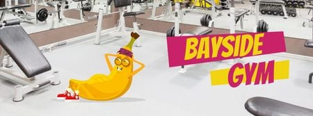 Banana training in gym Facebook Video cover Modelo de Design