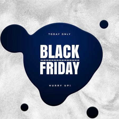 Plantilla de diseño de Black Friday Ad with Moving ink blots Animated Post
