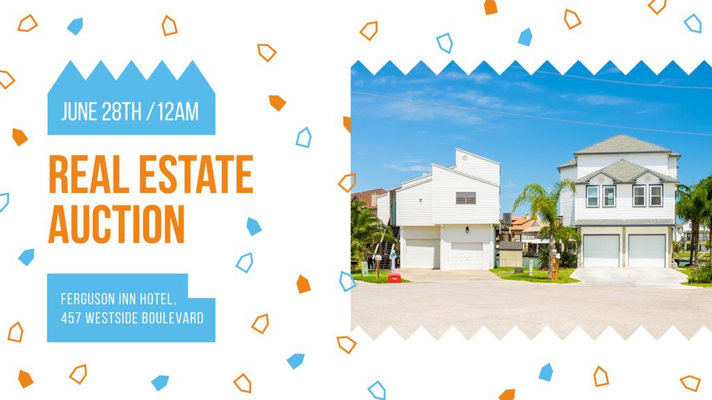 Real Estate Ad Modern Houses Facades | Facebook Event Cover Template — Créer un visuel